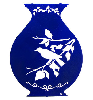 "16"" Bird Perch Jar Metal Wall Art"