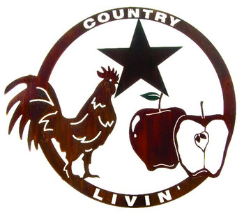 "27"" Country Livin' Rooster, Apples and Star Wall Art by Joel Sullivan"