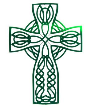 "18"" Celtic Knot Cross Metal Wall Art"