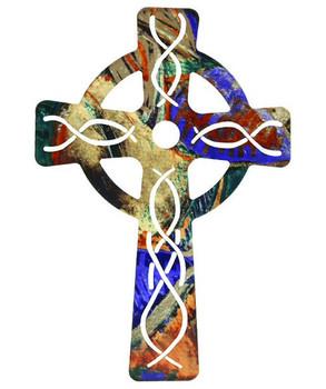 "18"" Celtic Cross Metal Wall Art"