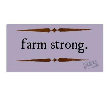 "16"" Farm Strong Metal Sign"
