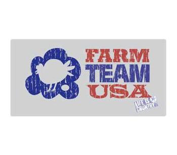 "16"" Farm Team USA Metal Sign"
