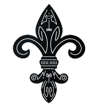 "24"" Fleur De Lis II Metal Wall Art by Robert Shields"