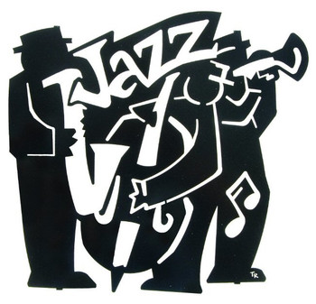 "18"" Jazz Band Metal Wall Art"