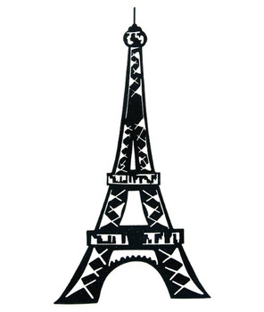 "20"" Eiffel Tower Metal Wall Art"