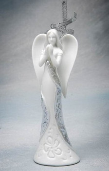Angel of Prayer Christmas Tree Ornaments, Set of 4