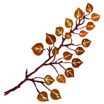 "24"" 3D Aspen Leaves Metal Wall Art by Neil Rose"