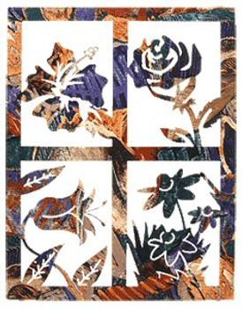 "20"" Floral Window Pane Metal Wall Art"