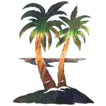 "22"" Palm Trees Metal Wall Art by Neil Rose"