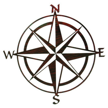 "20"" Compass Rose Metal Wall Art"