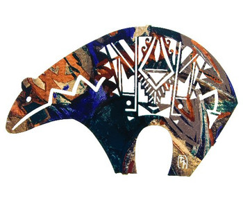 "14"" Fetish Bear Metal Wall Art by Bindrune Design"