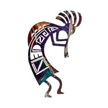 "12"" Humpback Kokopelli Metal Wall Art"