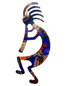 "24"" Kokopelli Metal Wall Art"