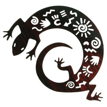"12"" Story Lizard Gecko Metal Wall Art"