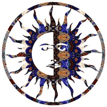 """15"""" Sun Moon Metal Wall Art"""