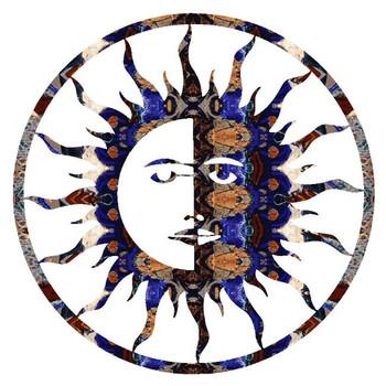 """24"""" Sun Moon Metal Wall Art"""