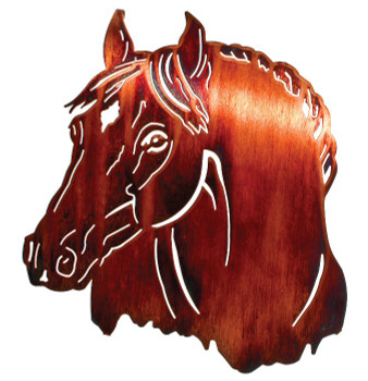 "16"" Horse Bust Metal Wall Art by Neil Rose"