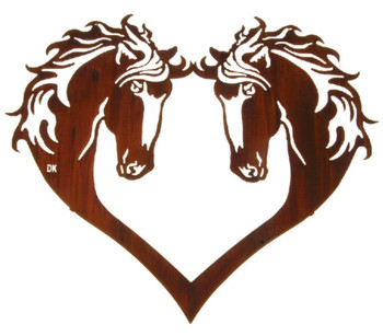 "28"" Heart of Horses Metal Wall Art by Daniel Kirchner"