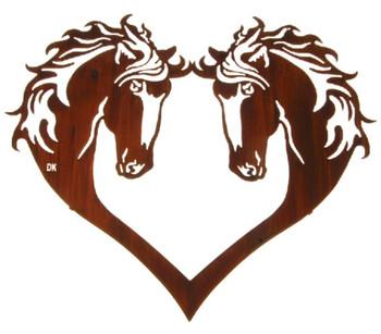 "28"" Heart of Horses Metal Wall Art by Daniel Kirchner"