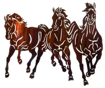 """22"""" Thunder Storm Stampeding Horses Wall Art by Kathryn Darling"""