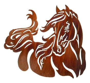 "28"" Windy Horse Metal Wall Art by Kathryn Darling"
