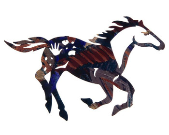 "14"" Painted Pony Metal Wall Art by Robert Shields"