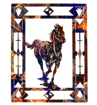 "20"" Escape Horse Metal Wall Art"