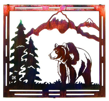 "18"" Mountain Grizzly Bear Metal Wall Art by Daniel Kirchner"