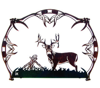 "22"" Trophy Buck Horns Deer Metal Wall Art by Daniel Kirchner"