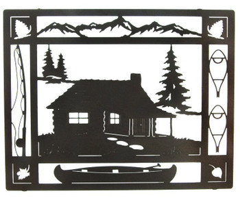 "20"" At the Cabin Framed Metal Wall Art"