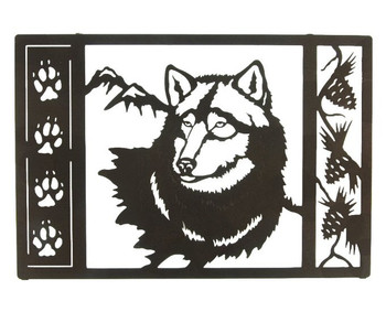 "20"" Wolf Tracks Framed Metal Wall Art"