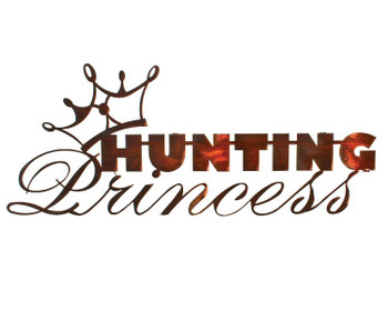 "23"" Hunting Princess Metal Wall Art Honey Pinion Finish"