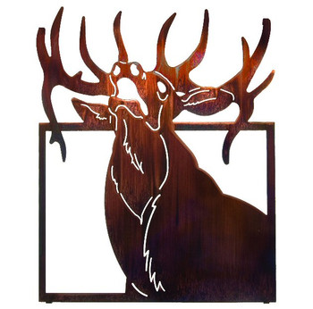 "18"" Elk Bust Framed Metal Wall Art by Joel Sullivan"