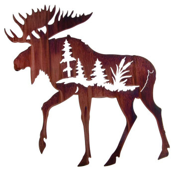 "24"" In My Soul Moose Metal Wall Art by Neil Rose"