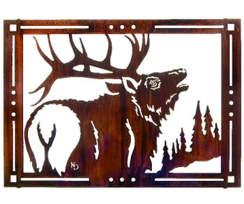 "24"" Elks Song Framed Metal Wall Art by Kathryn Darling"