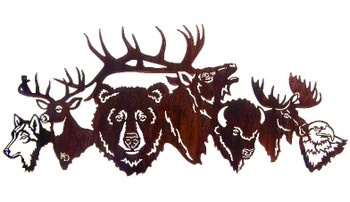 "30"" National Park Crew Wildlife Metal Wall Art by Kathryn Darling"