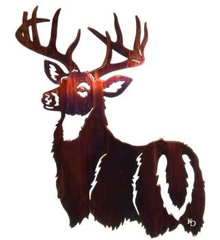 "24"" His Majesty Buck Metal Wall Art"