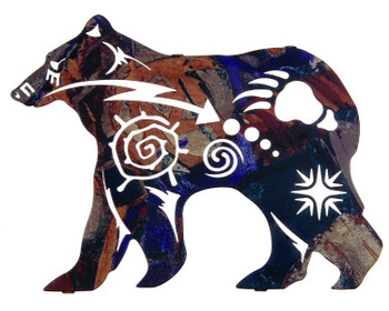 "12"" New Spirit Bear Metal Wall Art by Robert Shields"