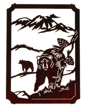 "22"" Wilderness Bears Framed Metal Wall Art by Neil Rose"