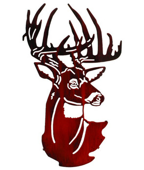"24"" Fall Buck Head Metal Wall Art by Neil Rose"