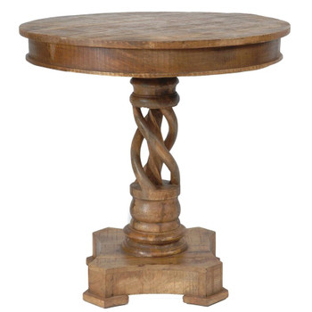 Bengal Manor Twist Mango Wood Accent Table