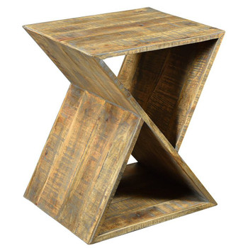 Angled Bengal Manor Mango Wood End Table