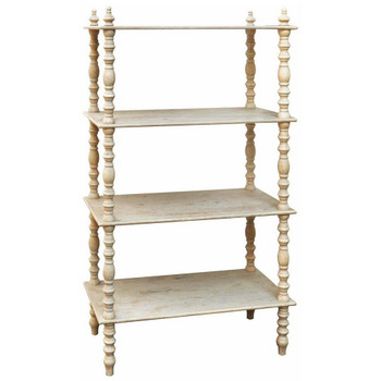 Lyndsay Antiqued MDF and Wood Etagere