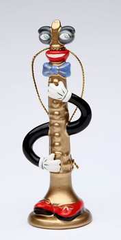 Musical Muse Clarinet Christmas Tree Ornaments by Ed Sussman, Set of 4
