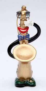 Musical Muse Saxophone Christmas Tree Ornament by Ed Sussman, Set of 4