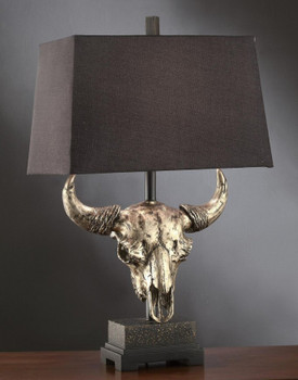 Master of the Prairies Skull Table Lamp