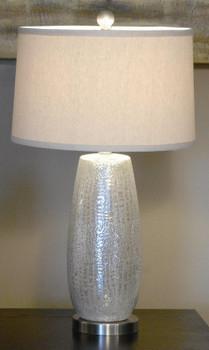 Rouen Silver Table Lamp
