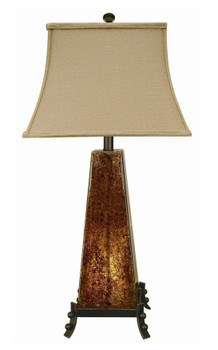 Amber Rock Glass Table Lamp