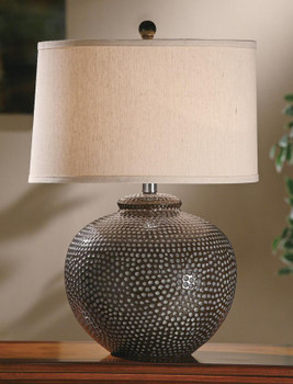 Hammered Ceramic Table Lamp