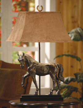 Bronze Horse Table Lamp